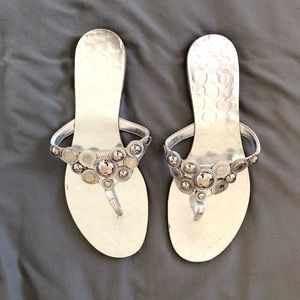 Silver Coach Woman's Sandals